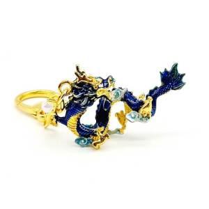 Celestial Water Dragon Feng Shui Keychain1