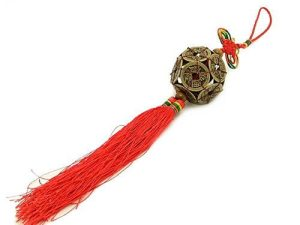 Chinese I-Ching Coins Ball Tassel1