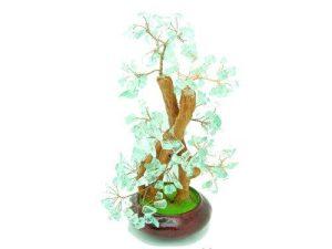 Clear Green Lead Crystal Gem Tree1