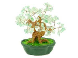 Clear Green Lead Crystal Gem Tree(Big)1