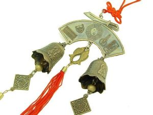 Double Bagua Fish Amulet With Bells And Protection Symbols1