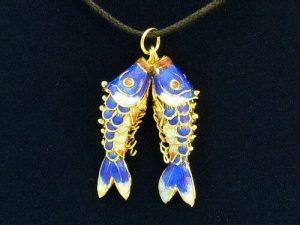 Double Fish Pendant Necklace For Abundance1