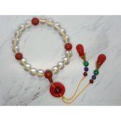 Empress 18 Clear Quartz with Red Agate Prayer Beads 清宫十八子1