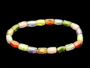 Faceted Assorted Gemstones Bracelet1