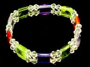 Faceted Assorted Square Gemstones Bracelet1