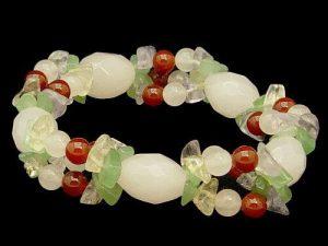 Faceted Rose Quartz Pineapple Bracelet1