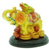 Fortune Money Frog On Wish Fulfilling Elephant1