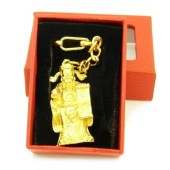 God Of Wealth Golden Key Chain1