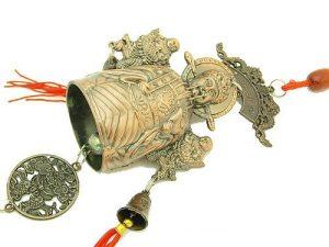God Of Wealth With Twin Deities Prosperity Bell1