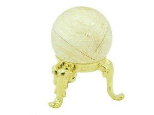 Gold Rutilated Quartz Sphere 40Mm1