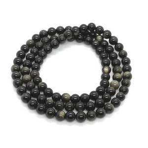 Golden Obsidian 3 Rounds Bracelet (6mm)1