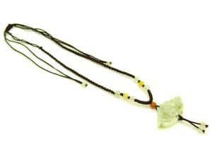 Jade Bat With Coin Necklace1