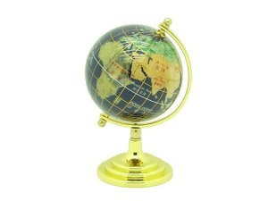 Lapis Lazuli World Globe For Scholastic Luck 80mm1