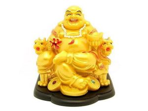 Laughing Buddha On Dragon Chair For Good Fortune (L)1