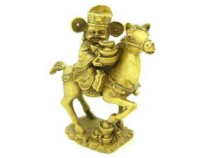Little Wealth God Holding Gold Ingot On Horse1