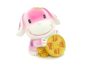 Lucky Puppy with Auspicious Coins1