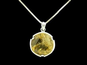 Natural Citrine Star Of David Pendant With 925 Silver Chain1
