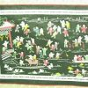 Silk Embroidered Picture Of Hundred Children - Villa and Lake2