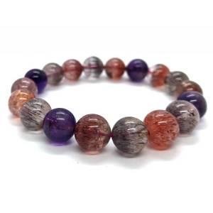 Top Grade Super Seven Gemstone Bracelet (11.3mm) 超7水晶1