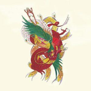 Phoenix Dragon Tattoo Flash