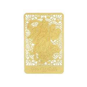 God Of Wealth With Tiger Gold Talisman Card