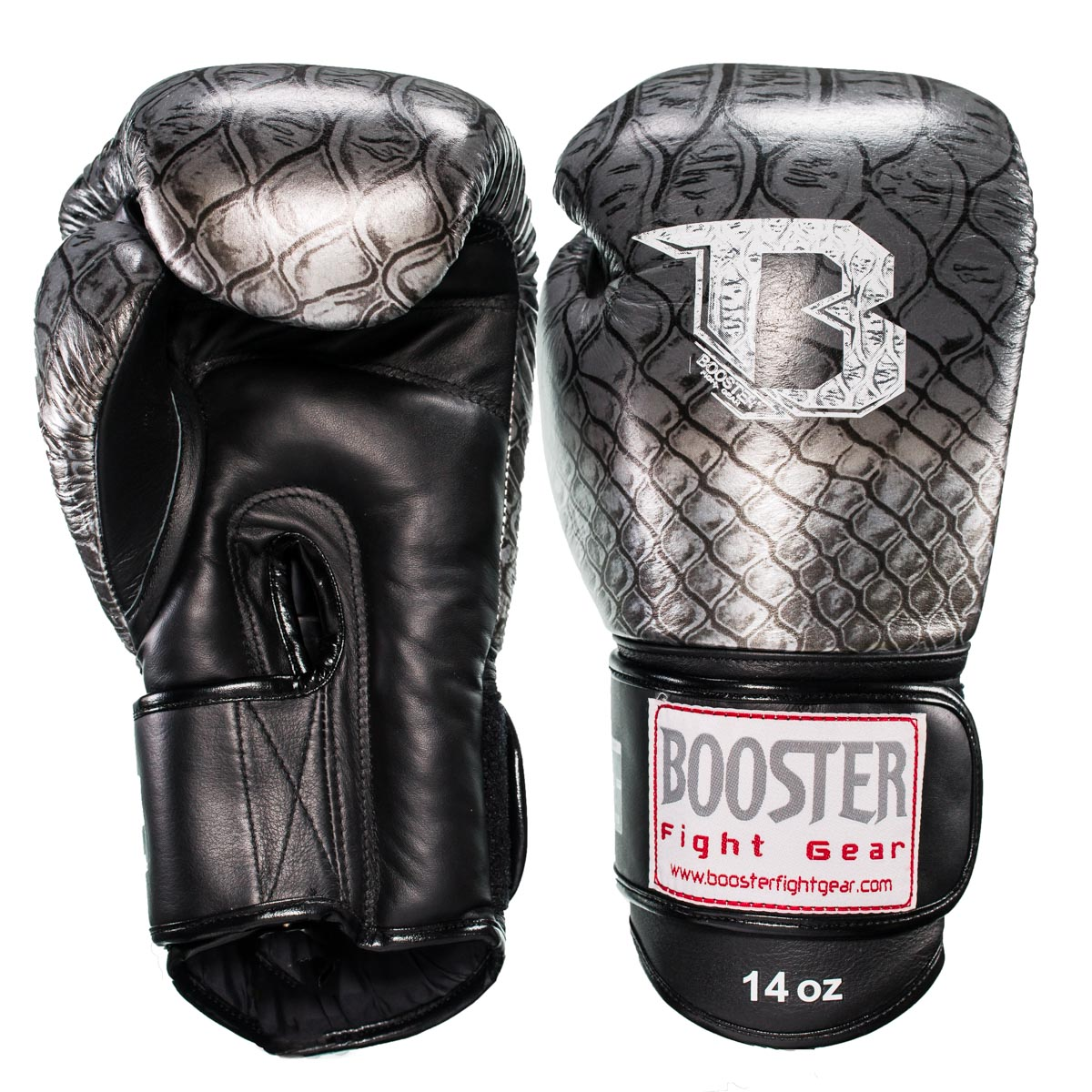 Booster Fightgear Boxing gloves - BGL PRO SNAKE SILVER - Buy2Fight