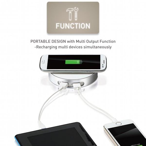 僑威雙USB孔無線充電器 告別桌面雜亂的線材 - 03.Function 01