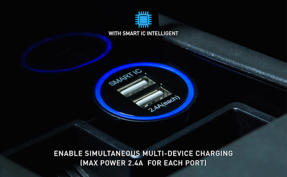 CHANNEL WELL 雙USB智慧車充 - 2port Car charger 970 600 01