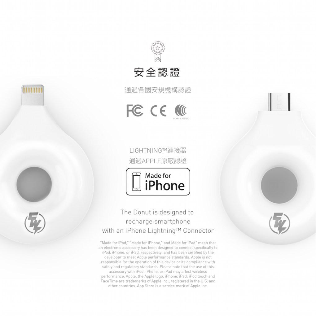 CHANNEL WELL 無線充電接收器 (Micro USB/Lightning) - Donut中文版 04 1
