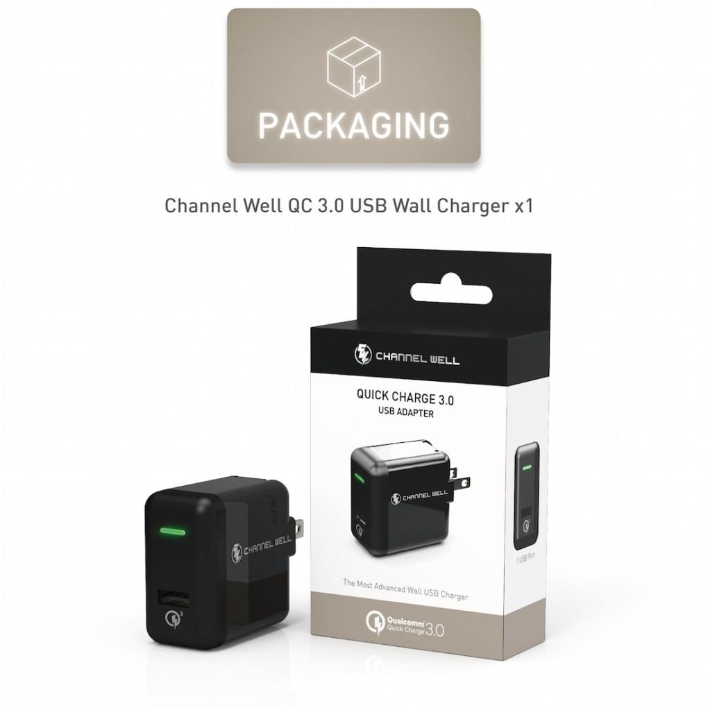 僑威 QC 3.0 快速充電器 充電速度提高 80%! - QC3.0 USB Wall Charger White 08