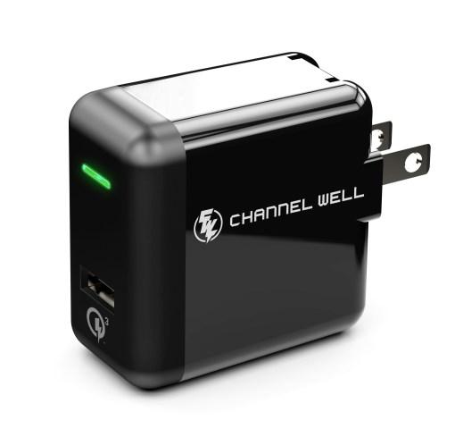僑威 QC 3.0 快速充電器 充電速度提高 80%! - R92 ACP0183 A001