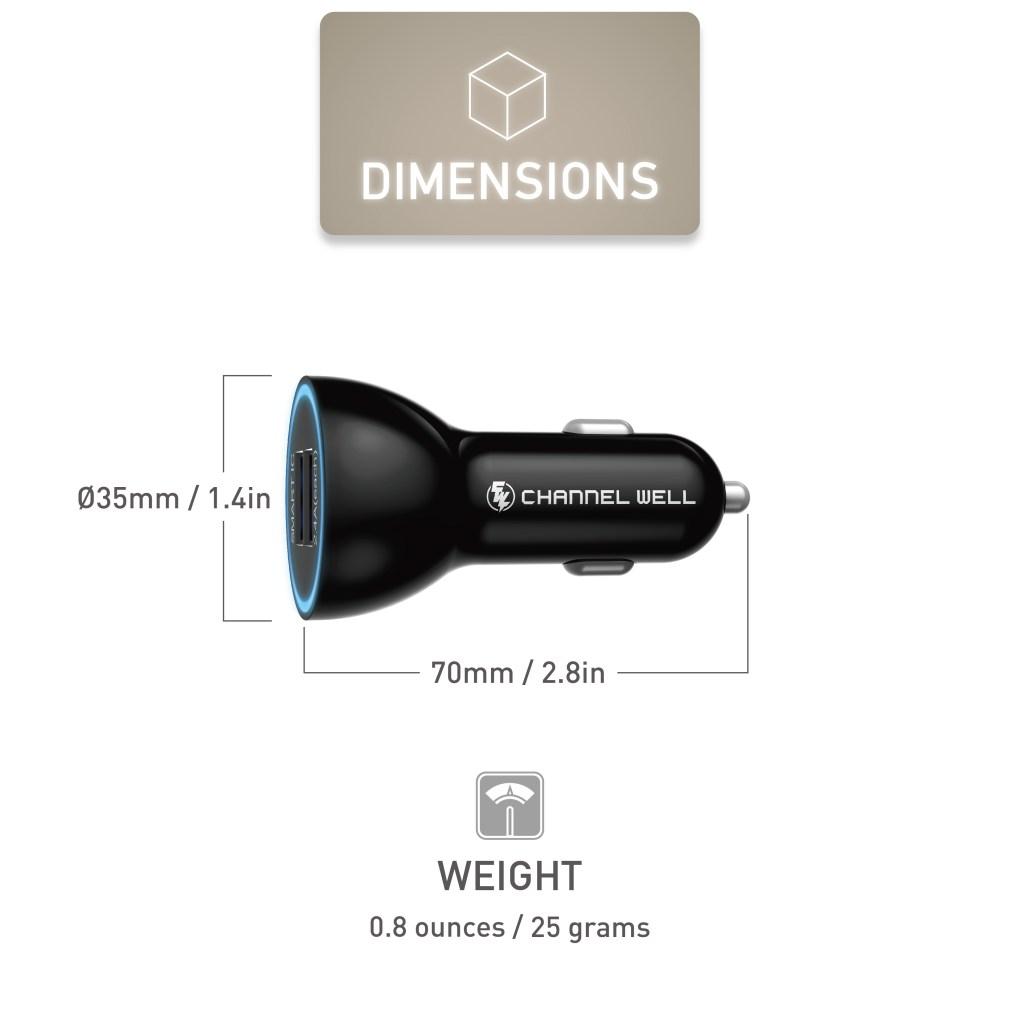 CHANNEL WELL 雙USB智慧車充 - SmartIC 2port new 06