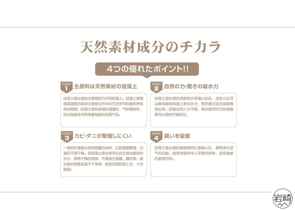 日本岩崎硅藻土地墊 - 超級吸濕抗菌防霉 - 岩崎硅藻土地墊 6