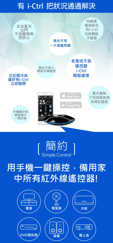 [本日限定] i-Ctrl 艾控智慧無線遙控器 (2入組) - aifa ictrl dc 6