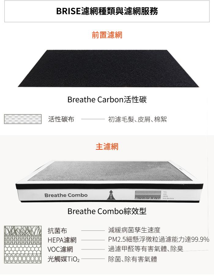 BRISE C600 活性碳前置濾網-Breathe Carbon (8片裝) - C600濾網 3