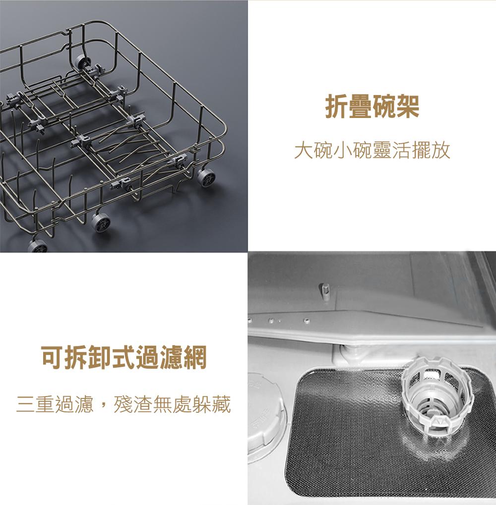 【早鳥優惠】VIOMI 雲米互聯網免安裝洗烘碗機(VDW0401) - 17