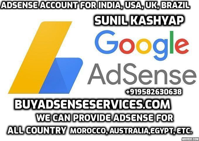 Buy Adsense Account For India USA UK Brazil Germany Canada Spain Bangladesh Morocco