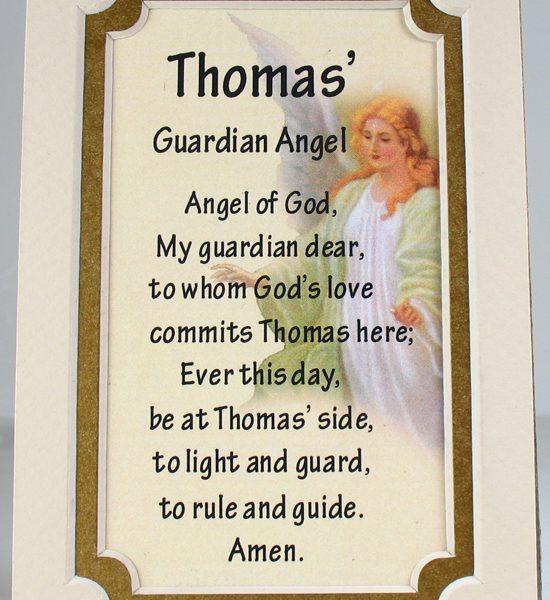 Personalized Guardian Angel 3×5 Prayerful Mat #35MAT-GA