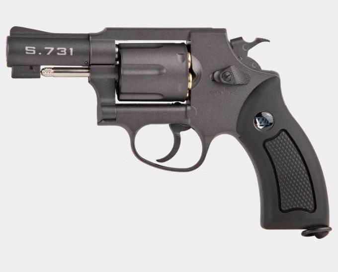 WINGUN 731 SHERIFF M36 2.5 REVOLVER BLK
