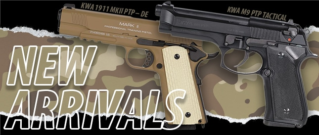 KWA M9 and M1911 New Arrivals_645x273