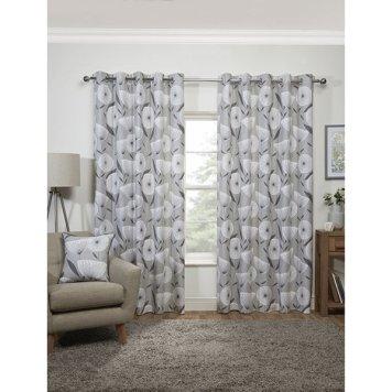 Amelia Eyelet Curtains 66-inches