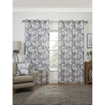 Amelia Eyelet Curtains 90 x 90-inches
