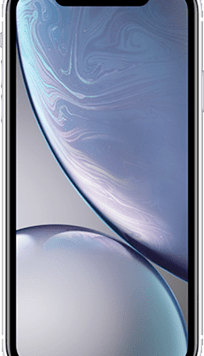 Apple iPhone XR (64GB White) at £49.00 on Red (24 Month(s) contract) with UNLIMITED mins; UNLIMITED texts; 6000MB of 5G data. £46.00 a month.