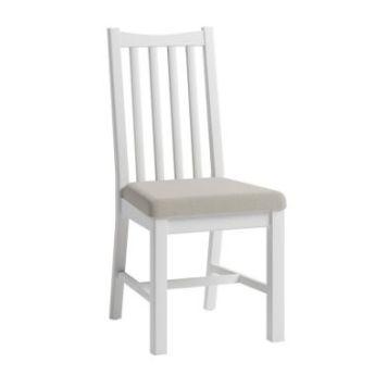 Ava Oak Open Slat Dining Chair White