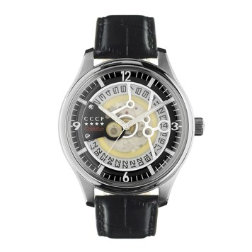 CCCP Gents Sputnik-2 Automatic Watch with Genuine Leather Strap