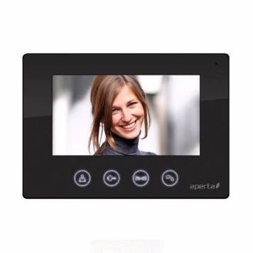 ESP Aperta Black Colour Video Door Entry Monitor for Multi Intercom System