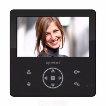 ESP Aperta Colour Video Door Entry Monitor with Record Facility - Black