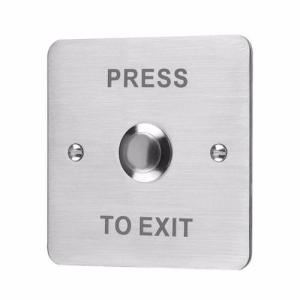 ESP Flush Stainless Steel 12V Door Switch Push To Exit Button