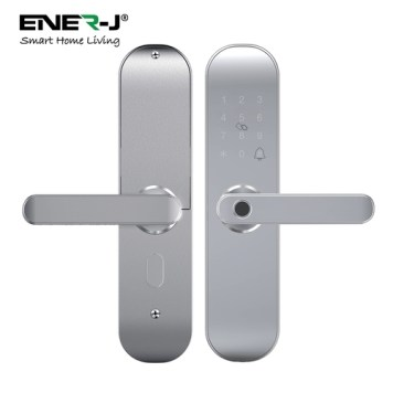 Ener-J WiFi Smart Door Lock Right Handle (Black, silver) - Silver