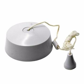 Greenbrook 6 Amp White Two Way Bathroom Ceiling Light Pullcord Switch